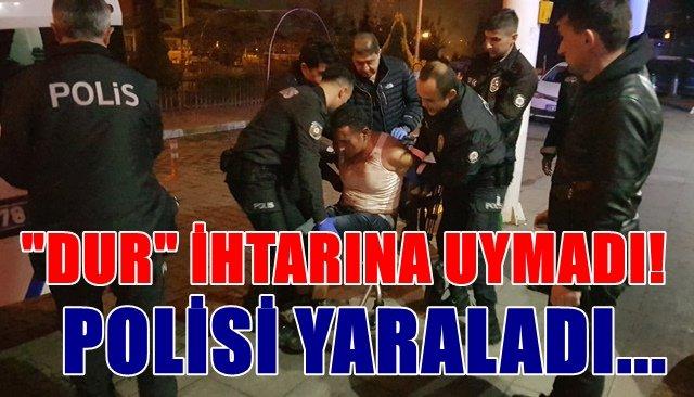 ´´Dur´´ ihtarına uymayan alkollü sürücünün çarptığı trafik polisi yaralandı