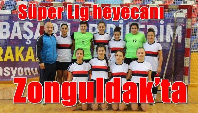 Kadınlar Hokey Süper Lig müsabakaları Zonguldak´ta oynanıyor