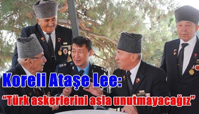"""Koreli Ataşe Lee: """"Türk askerlerini asla unutmayacağız"""""""