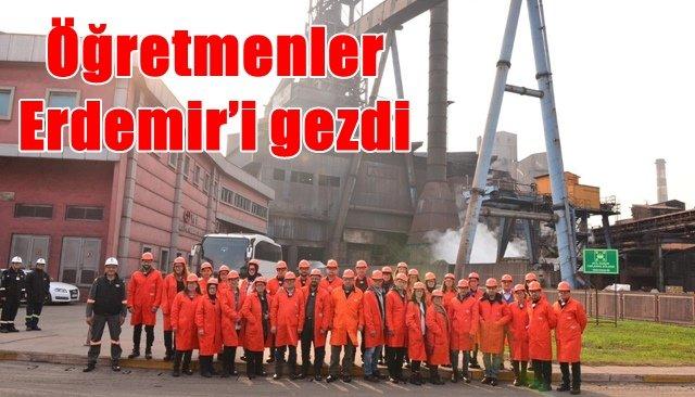 Öğretmenler Erdemir'i gezdi