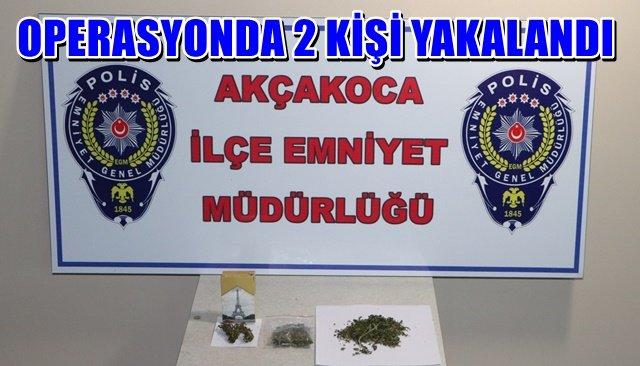 Polisten Akçakoca'da uyuşturucu operasyonu