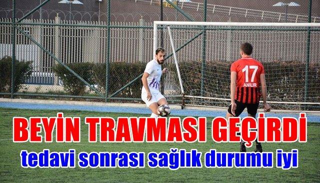 Rakip futbolcuyla çarpışan Ozan Aydın hastanede tedavi gördü