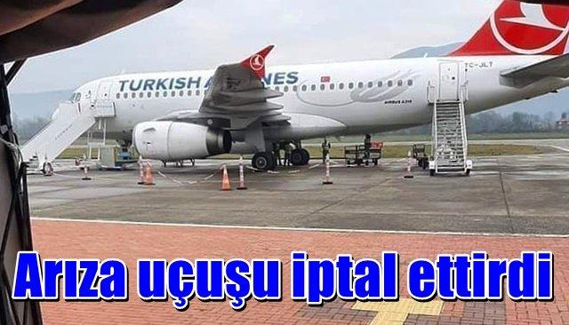 THY uçağının lastiğindeki arıza uçuşu iptal ettirdi