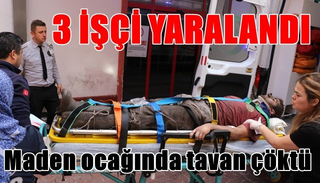 TTK maden ocağında göçük: 3 işçi yaralı