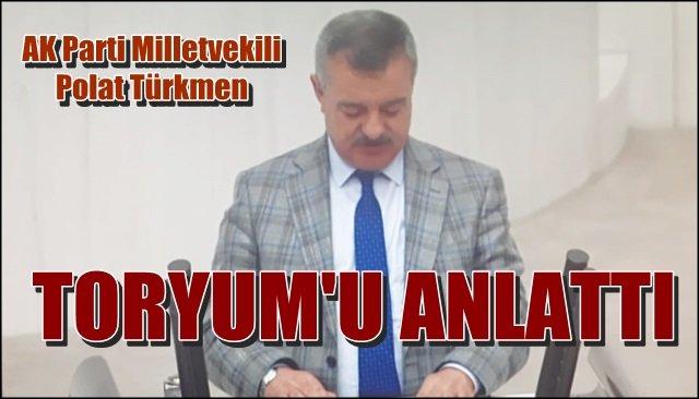 """Türkmen """"TORYUM""""u anlattı"""