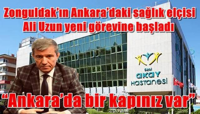 Zonguldak'ın Ankara'daki sağlık elçisi yeni görevine başladı