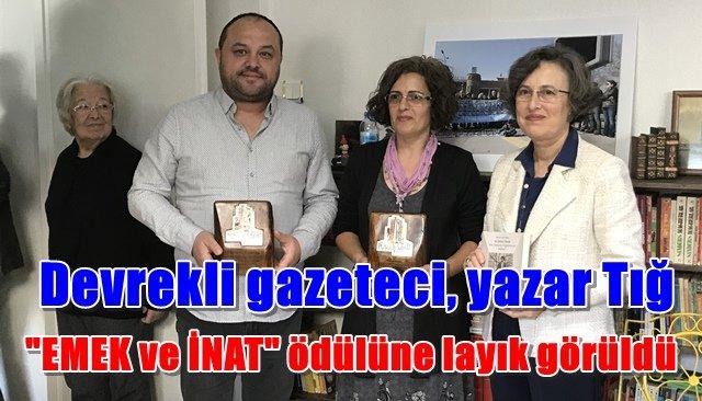 "Devrekli Gazeteci Tığ'a, ""Emek Ödülü"""