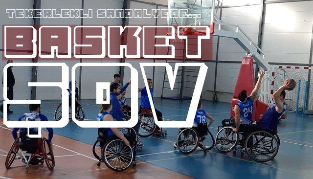 Tekerlekli sandalyede BASKET ŞOV!