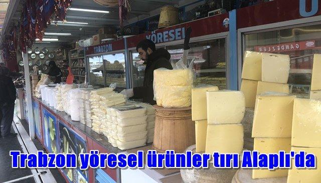 Trabzon yöresel ürünler tırı Alaplı´da