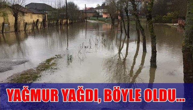 Zonguldak´ta köy yolları sular altında kaldı