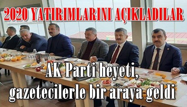AK Parti heyeti, gazetecilerle bir araya geldi