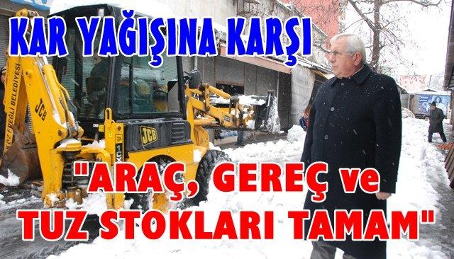 """Belediye'den, """"KARA HAZIRIZ"""" mesajı"""