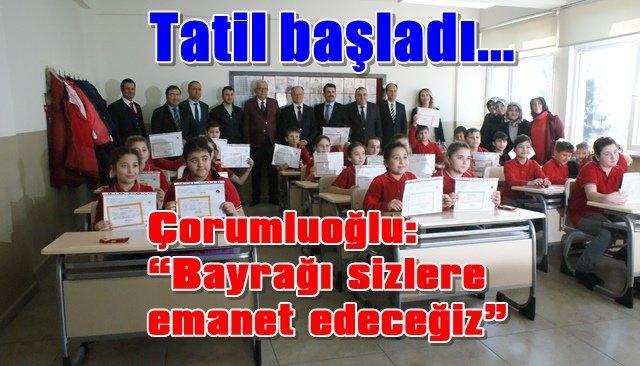 Ereğli'de 32 bin 700 öğrenci karne aldı