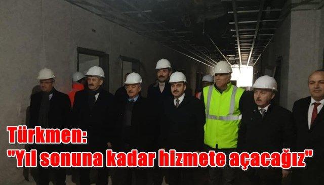 Milletvekilleri hastane inşaatını inceledi