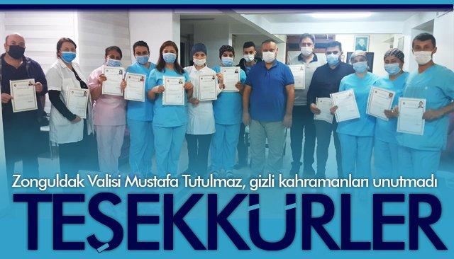 HUZUREVİ PERSONELİNE 'TEŞEKKÜR' BELGESİ