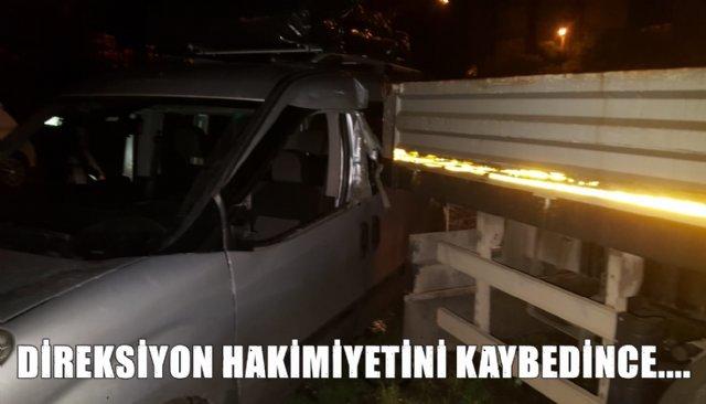PARK HALİNDEKİ KAMYONUN DORSESİME ÇARPTI