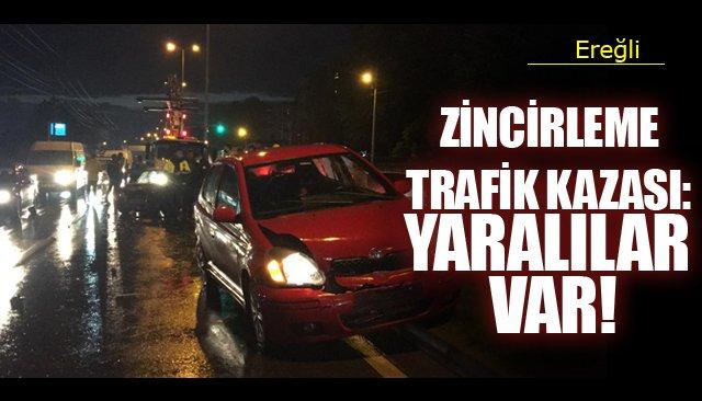 ZİNCİRLEME TRAFİK KAZASI: YARALILAR VAR!