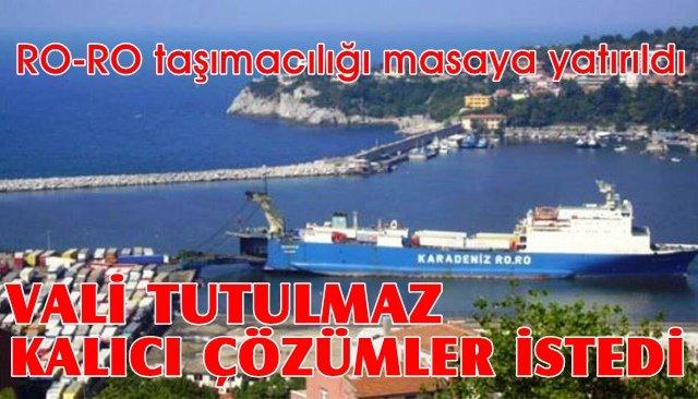 Zonguldak Limanı'ndan yapılan RO-RO taşımacılığı masaya yatırıldı