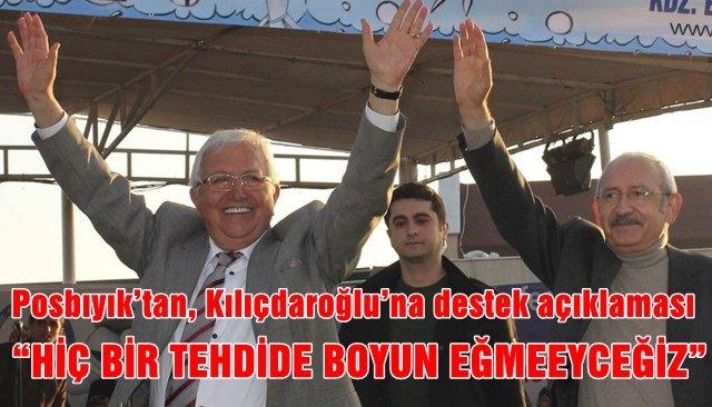 Posbıyık'tan, Kılıçdaroğlu'na destek açıklaması