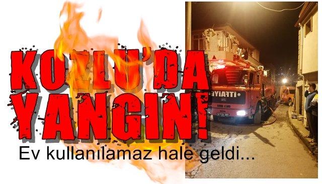 Zonguldak´ta yangın... Ev harabeye döndü..