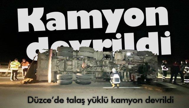 KAMYON DEVRİLDİ