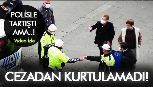 YAYALARA YOL VERMEDİĞİ İÇİN CEZA YİYEN SÜRÜCÜ,  POLİSLE TARTIŞTI!