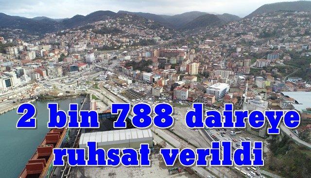 2 bin 788 daireye ruhsat verildi