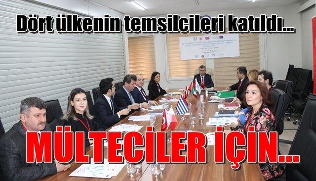 Dört ülkenin temsilcileri mülteci projesi için Zonguldak´ta...