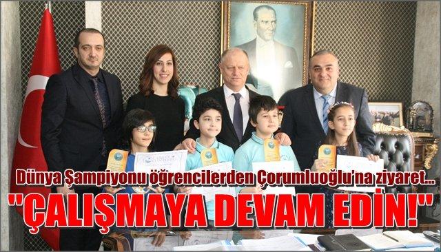 Dünya Şampiyonu matematikçilerden Çorumluoğlu'na ziyaret…