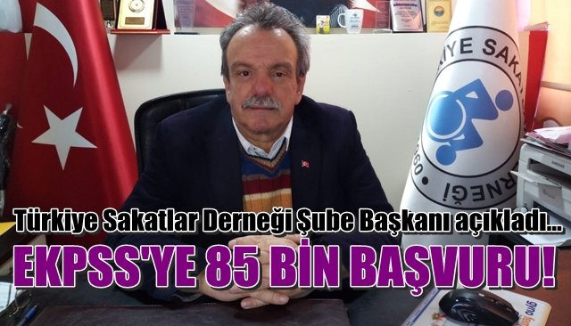 ´´EKPSS´ye 85 bin engelli başvurdu´´