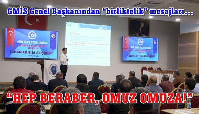 GMİS taban eğitim semineri yapıldı