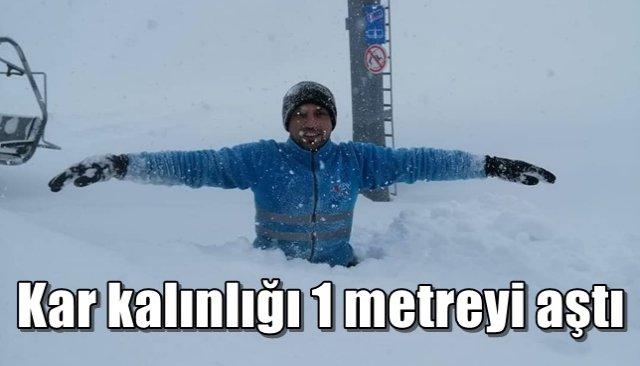 Kar kalınlığı 1 metreyi aştı