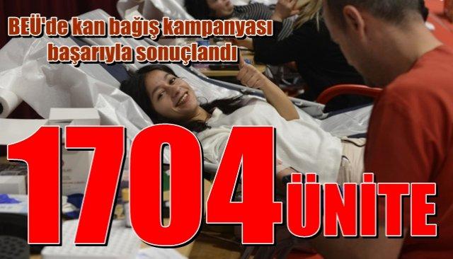 BEÜ´deki kan bağış kampanyası başarıyla sonuçlandı