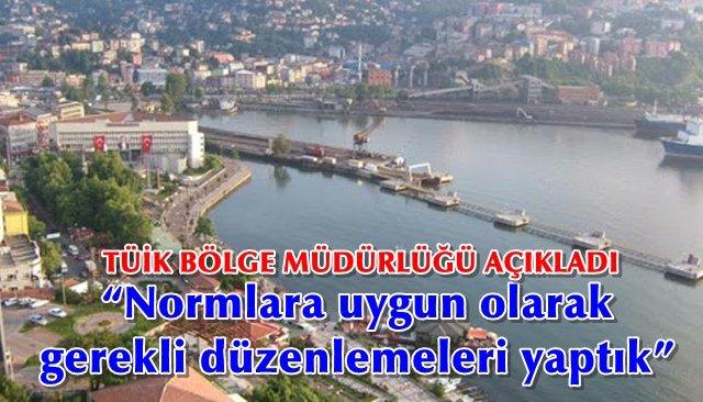 TÜİK' Zonguldak Bölge Müdürlüğü'nden korona açıklaması