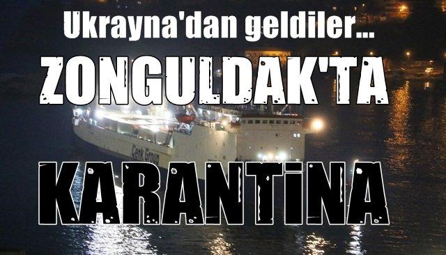 Ukrayna´dan gelen gemideki 34 tır şoförü gözlem altında