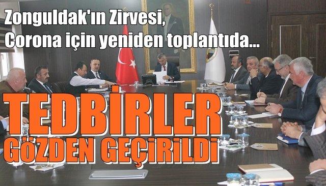 Zonguldak'ta Koronavirüse karşı alınan tedbirler gözden geçirildi