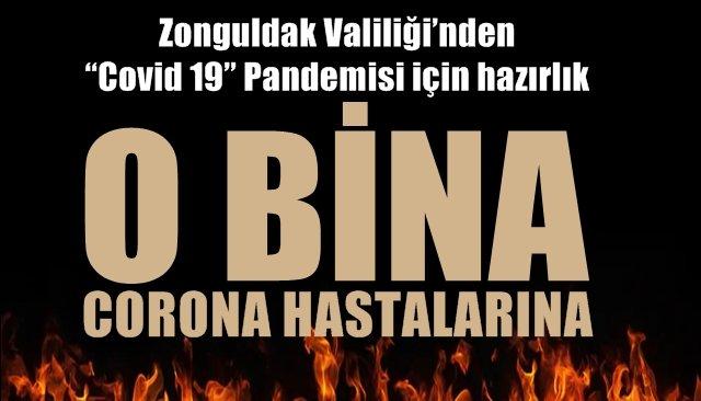 """Zonguldak Valiliği'nden """"Covid 19"""" Pandemisi için hazırlık"""