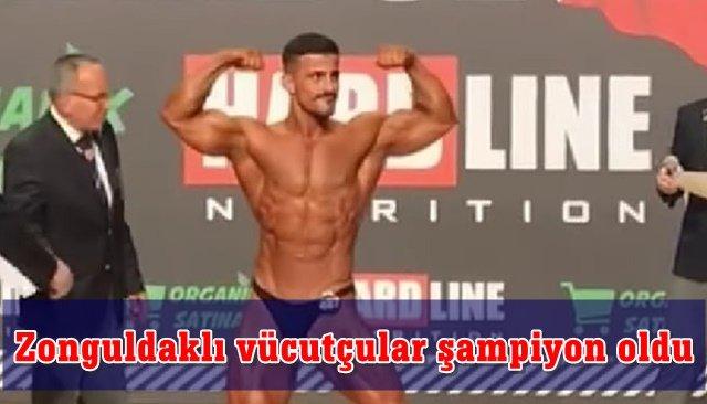 Zonguldaklı vücutçular şampiyon oldu