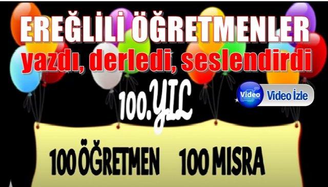 100 öğretmen 100 mısra 100.yıla özel…