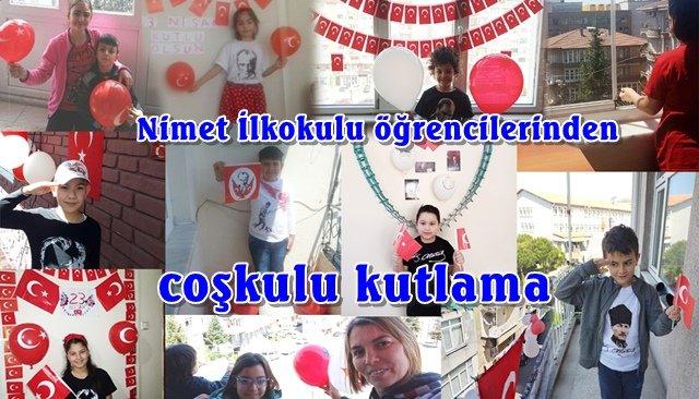 Nimet İlkokulu öğrencilerinden coşkulu kutlama