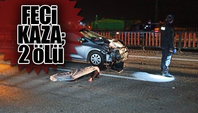 Otomobil ile motosiklet çarptı: 2 ölü