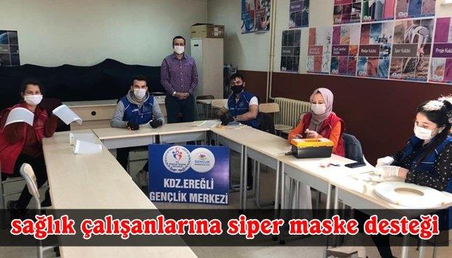 Sağlık çalışanlarına siper maske desteği