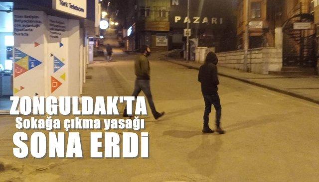 Zonguldak'ta sokağa çıkma yasağı sona erdi