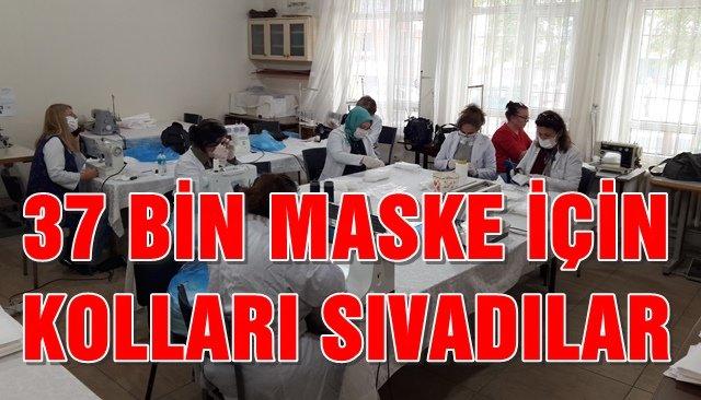 Sınava girecek adaylar için 37 bin maske dikecekler