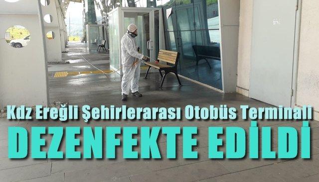 Terminal dezenfekte edildi