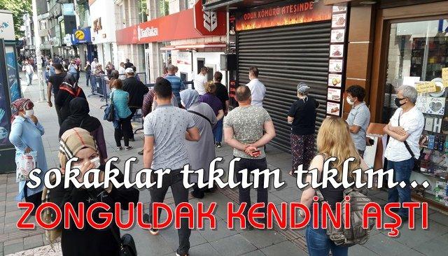 Zonguldaklılar sokağa çıkma rekoru kırdı