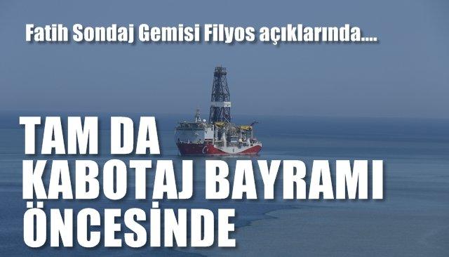 Fatih Sondaj Gemisi doğalgaz ve petrol aramaya geldi…