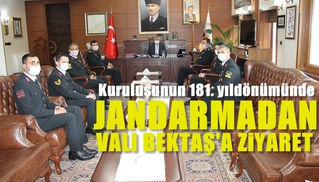 Jandarma Teşkilatının kuruluş yıldönümü… Vali Bektaş'ı ziyaret ettiler