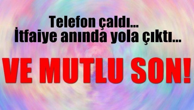 Telefon çaldı… İtfaiye anında yola çıktı… VE MUTLU SON