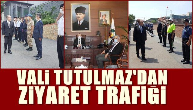 Vali Tutulmaz'dan ziyaret trafiği…